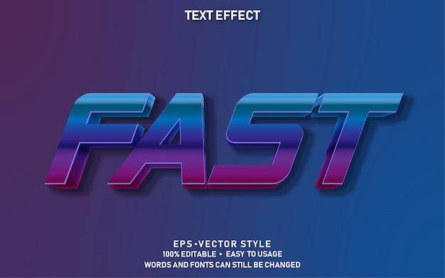 Редактируемый текстовый эффект fast chrome
