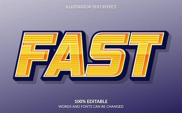 Редактируемый текстовый эффект, быстрый оранжевый текстовый стиль