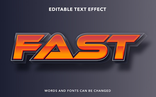 Editable text effect for fast speed