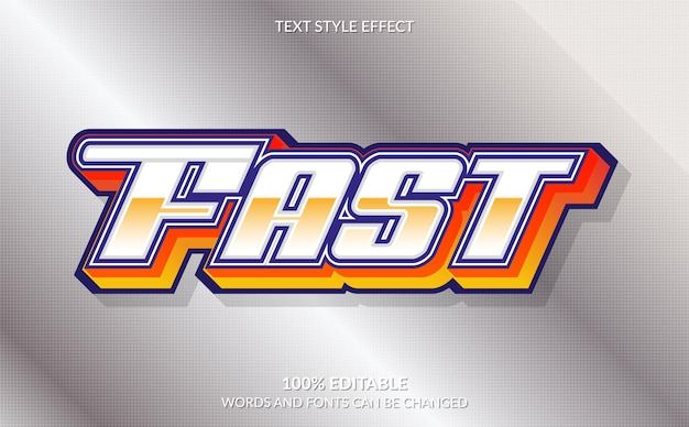 Editable text effect, fast text style