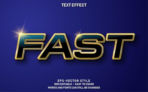 Редактируемый текстовый эффект быстро