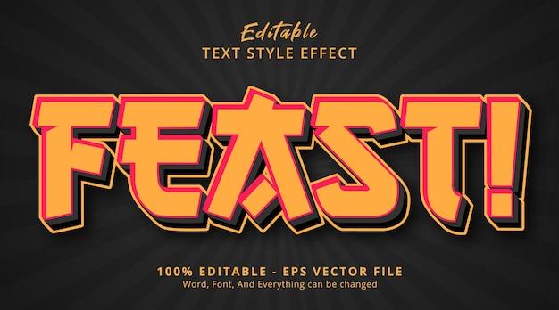 Редактируемый текстовый эффект, праздник текста в японском стиле Premium векторы