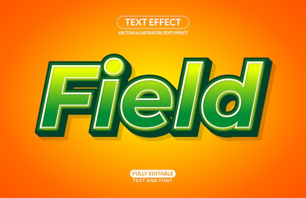 Editable text effect field