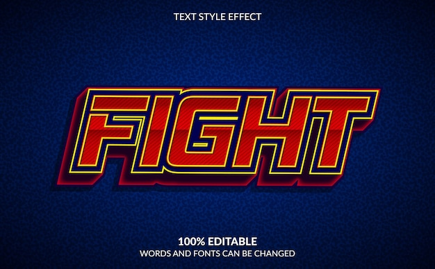 Editable text effect, fight text style
