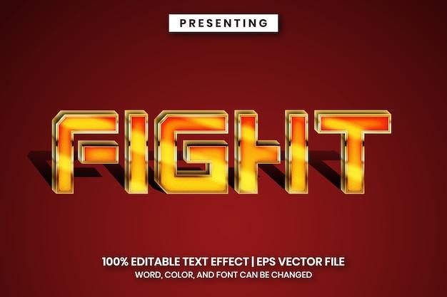 편집 가능한 텍스트 효과-전투기 게임 스타일
