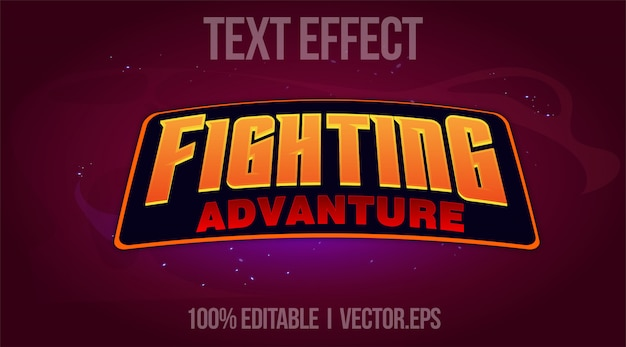 Editable text effect - fighting advanture game logo style