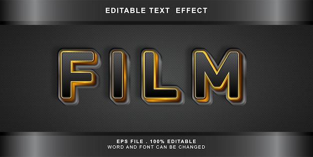 Editable text effect film