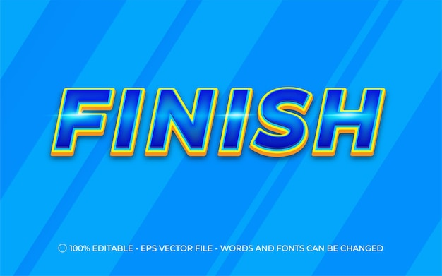 Editable text effect, finish style illustrations