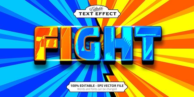 Редактируемый текстовый эффект, бой огня и воды