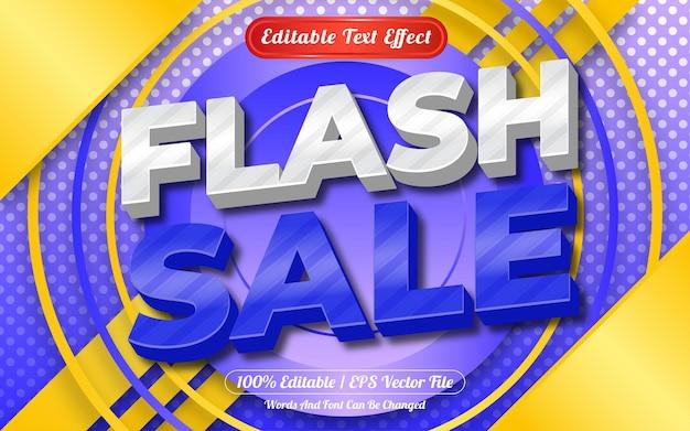 편집 가능한 텍스트 효과 플래시 판매 템플릿 스타일