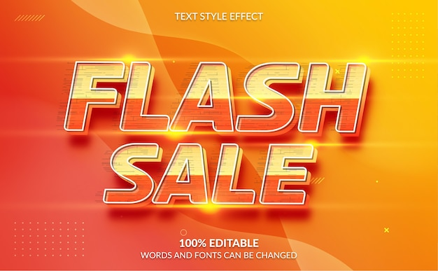 Editable text effect flash sale text style