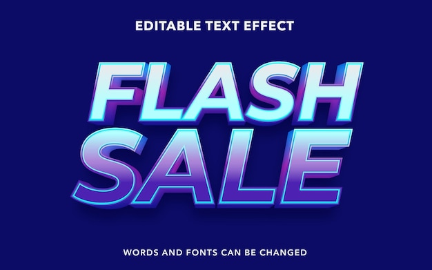 Editable text effect for flash sale