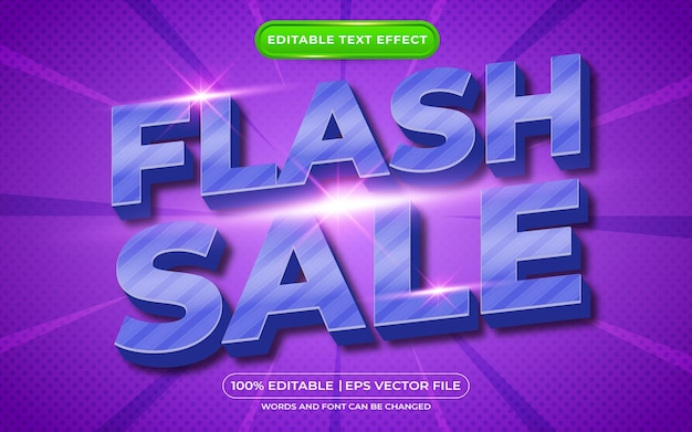 Редактируемый текстовый эффект flash распродажа
