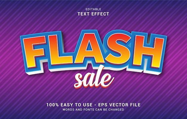 Editable text effect, flash sale