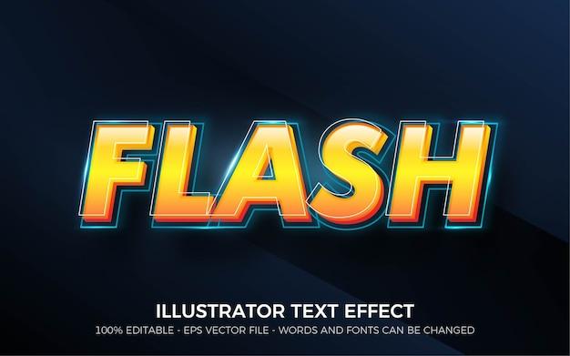 편집 가능한 텍스트 효과, 플래시 스타일 일러스트레이션