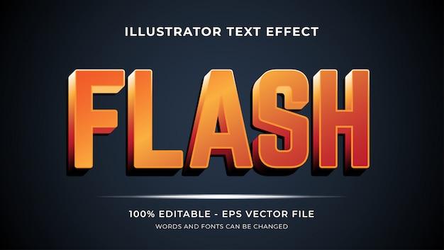 Редактируемый текстовый эффект - стиль flash