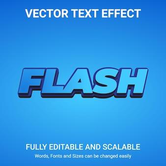 Редактируемый текстовый эффект - стиль текста flash