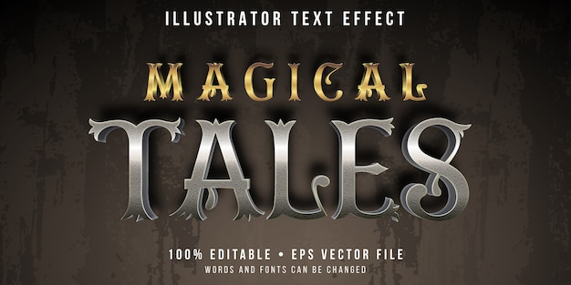 Editable text effect - folk tales style