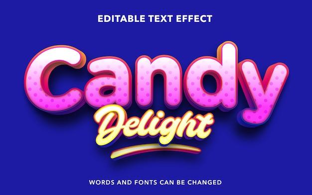 キャンディーデライトの編集可能なテキスト効果