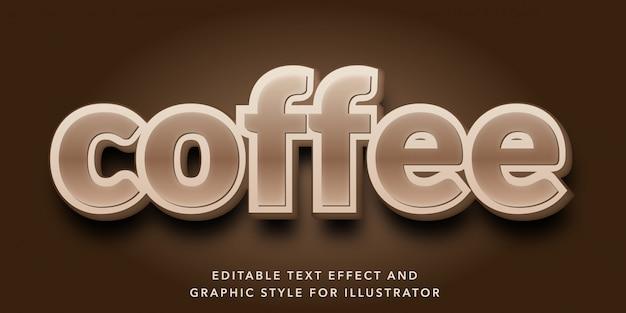 Редактируемый текстовый эффект для стиля кофейного текста