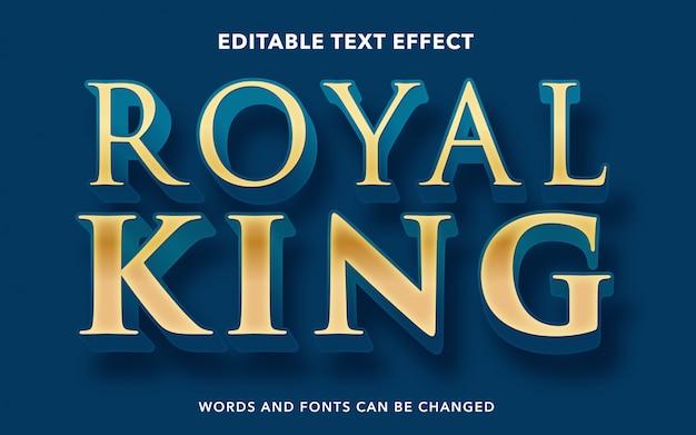 Редактируемый текстовый эффект для стиля текста королевского короля