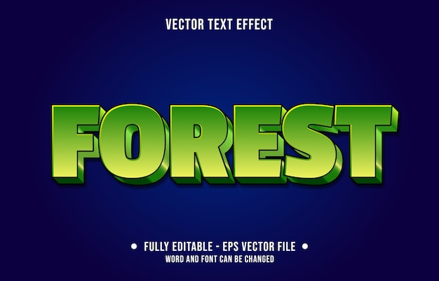 Editable text effect forest green modern style