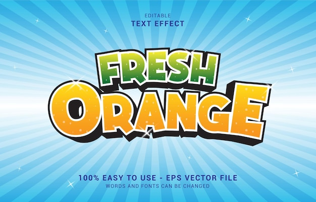 編集可能なテキスト効果、フレッシュオレンジスタイルを使用してタイトルを作成できます