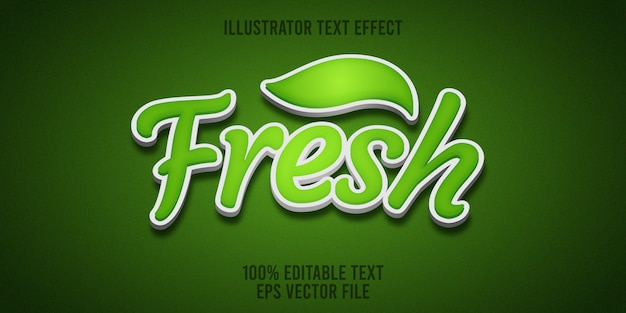 Editable text effect fresh