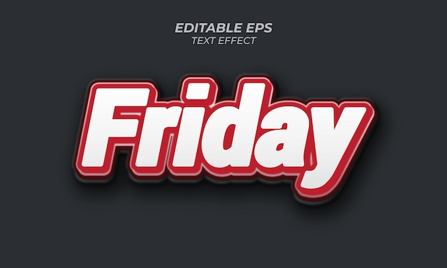 Editable text effect friday