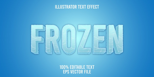 Editable text effect   frozen logo