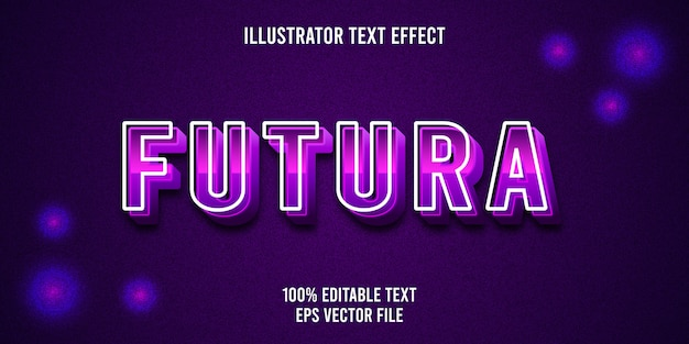 Editable text effect futura