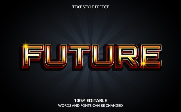 Editable text effect, future text style