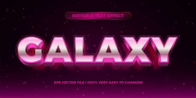 Editable text effect - galaxy text style  concept