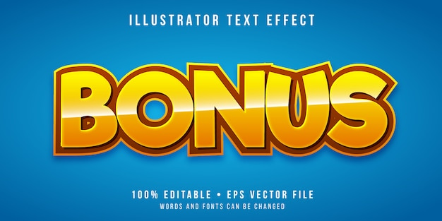 Editable text effect - game bonus style