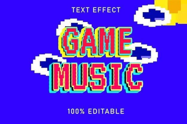 Редактируемый текстовый эффект игровая музыка