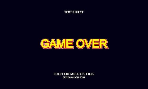 タイトルスタイル上の編集可能なテキスト効果ゲーム
