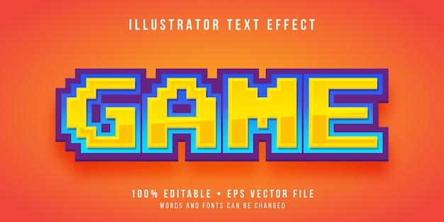 Editable text effect - game pixel style