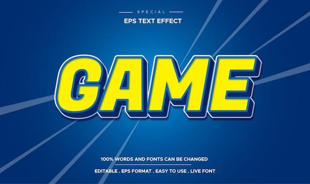 Редактируемый текстовый эффект стиля игры