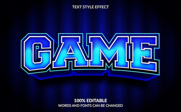 Editable text effect, game text style
