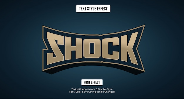 Editable text effect - gaming e-sport style logo