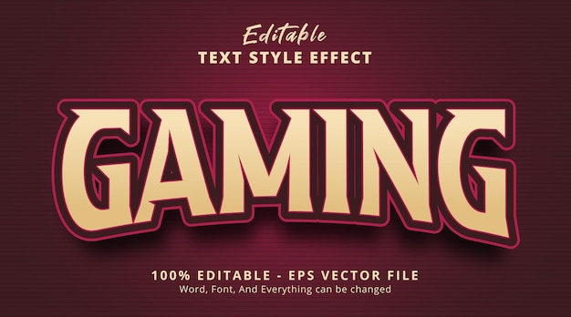 Editable text effect, gaming text on headline gaming logo style effect
