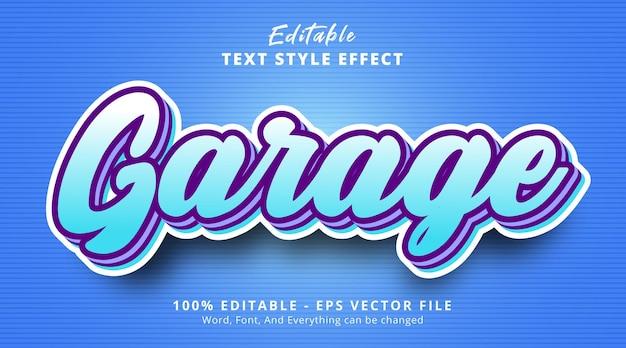Редактируемый текстовый эффект, текст garage со стилем многослойной комбинации цветов