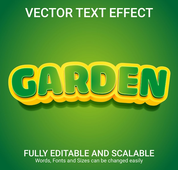 Редактируемый текстовый эффект - стиль текста сад