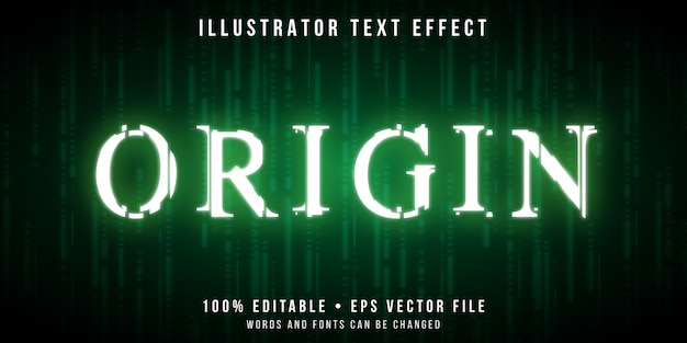 Editable text effect - glitch codes style
