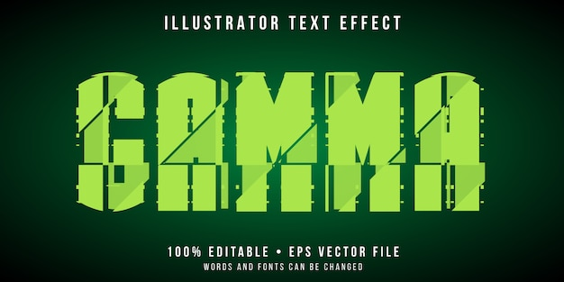 Editable text effect - glitch experiment style