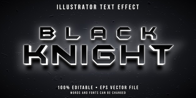 Editable text effect - glowing knight hero style