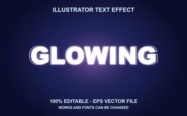 Редактируемый текстовый эффект glowing