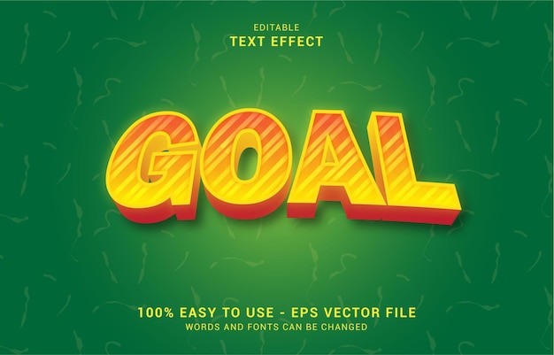Editable text effect, goal shine style can be use to make title