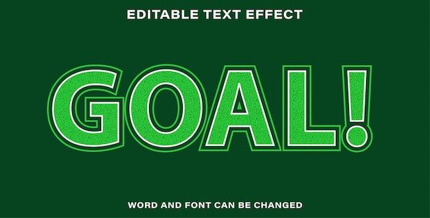 Editable text effect - goal