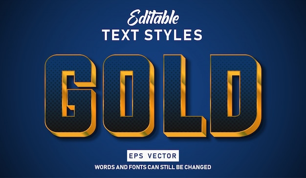 Editable text effect gold dots